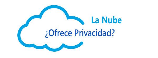 Guardar archivos. nube ofrece privacidad