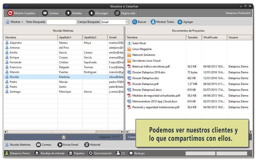 Compartir archivos con los clientes en la Nube.