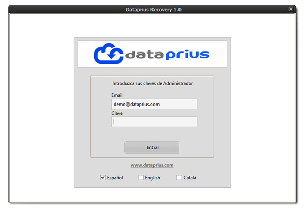 dataprius-recovery-login