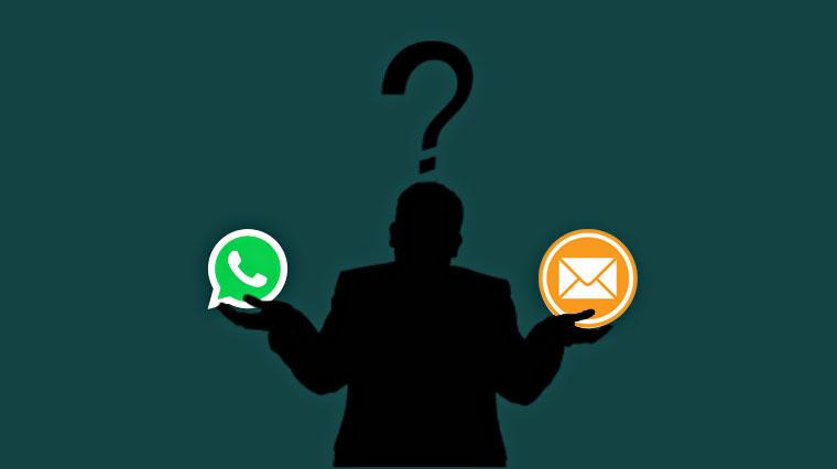 whatsapp o correo. Dataprius