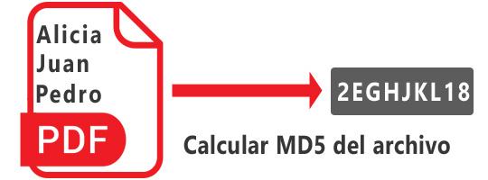 se calcula el md5 del archivo