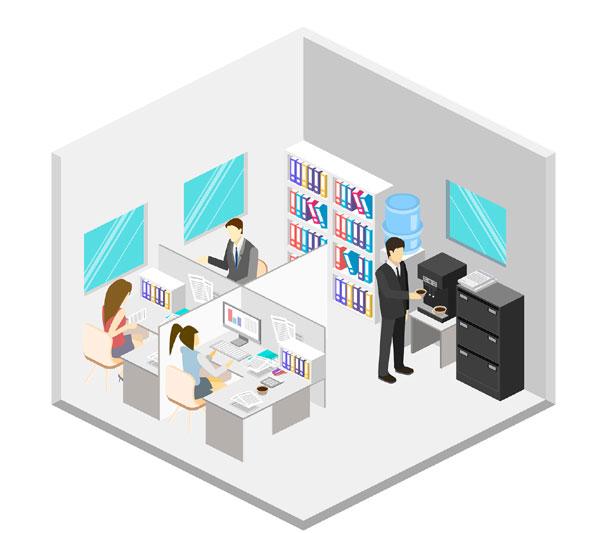ilustración empresa