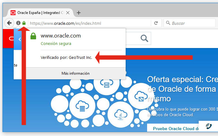 certificado oracle