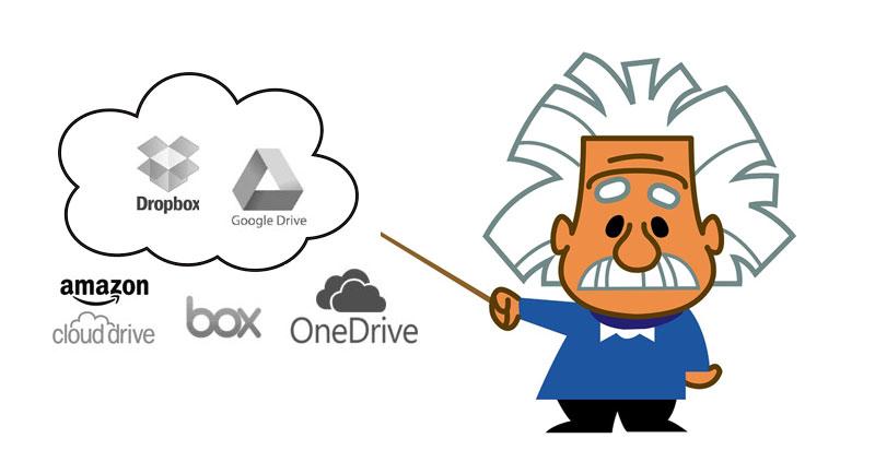 No hay que ser Einstein invalidar Dropbox y Drive