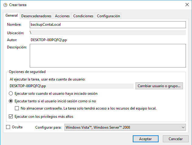 crear tarea de windows