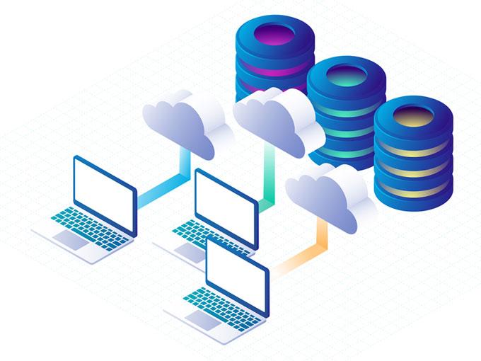 Ilustración almacenamiento nube