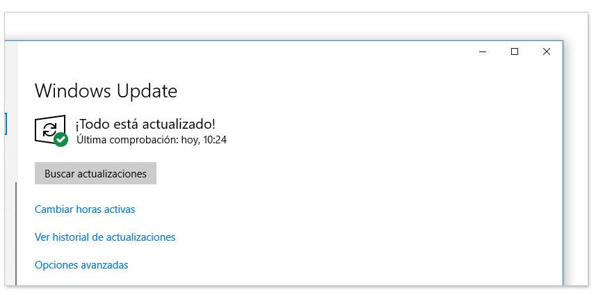 Windows actualizado