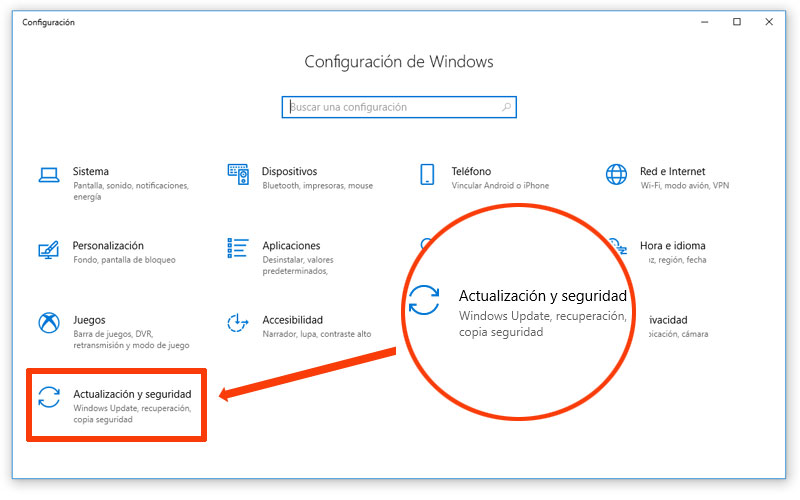 Configuración de Windows