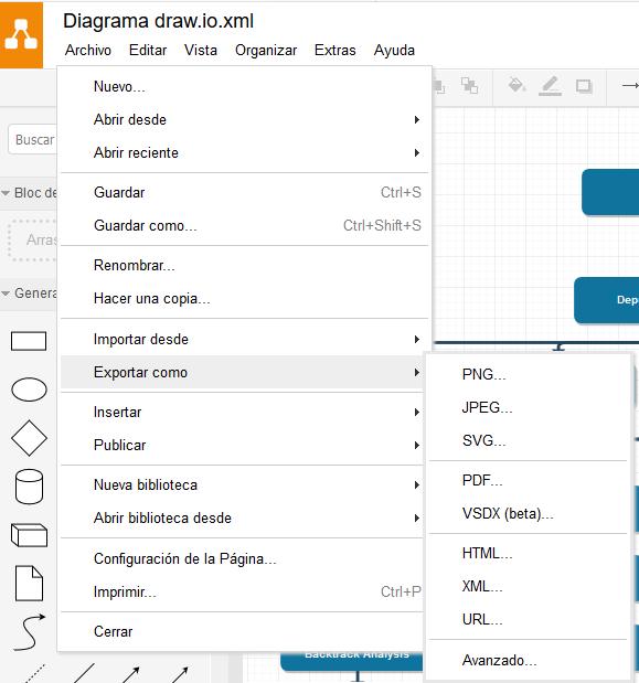 draw.io Exportar diagrama