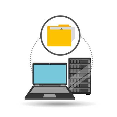 Portátil accediendo a carpeta compartida en servidor