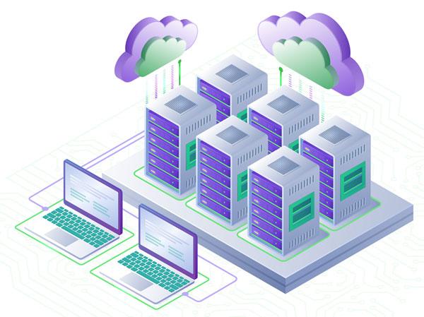 Concepto servidores cloud computing