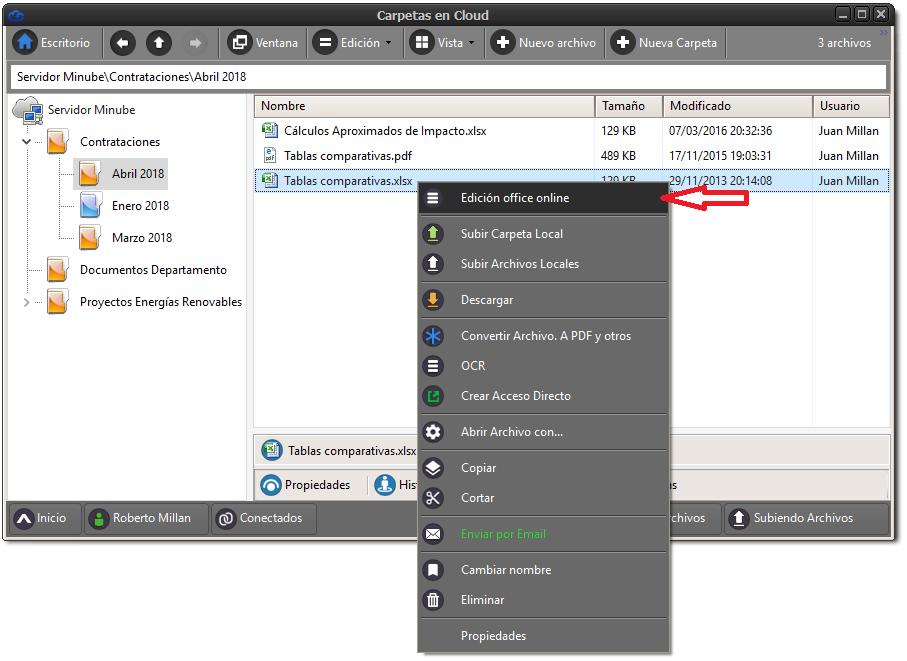 Edición de Office Online desde la aplicación de escritorio