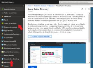 Crear un Azure Active Directory desde la web de Azure