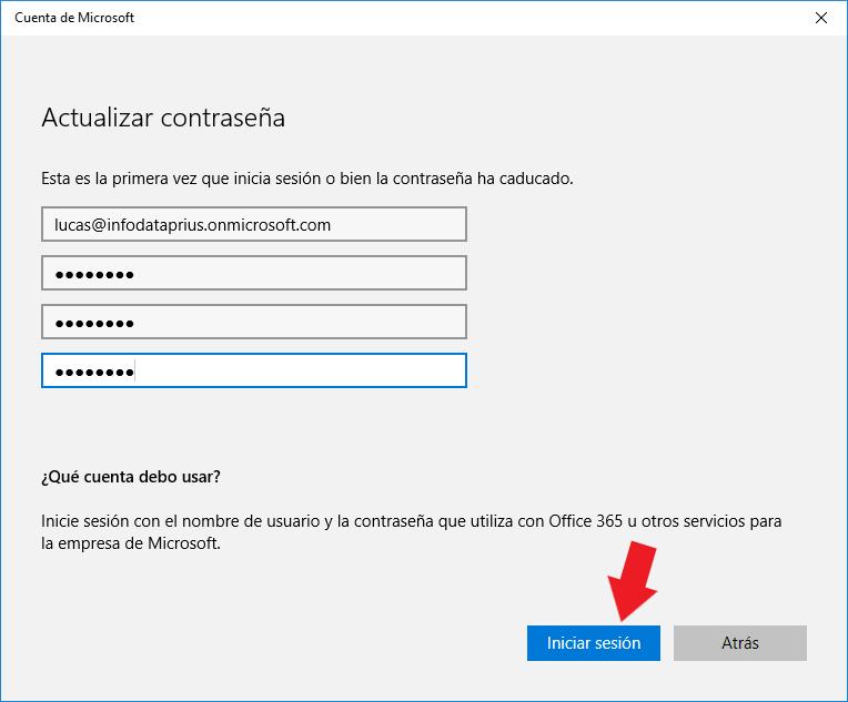 Iniciar sesión dispositivo para conectarlo con Azure Active Directory
