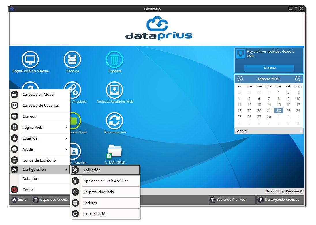 Escritorio Dataprius Configuración