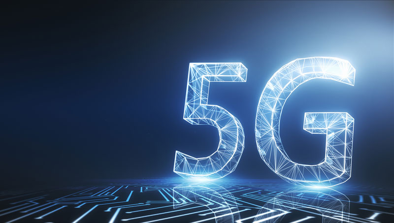 Ilustración tecnología 5G.