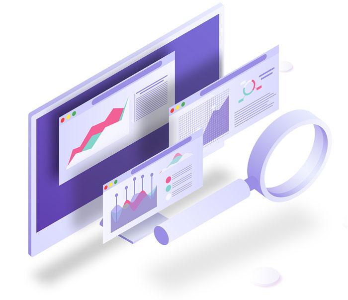 Ilustración estadísticas cloud computing