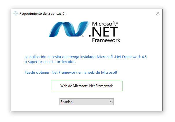 Requerimiento .net framework