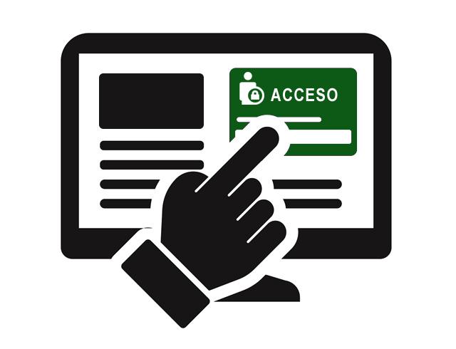 Botón de acceso a área privada web