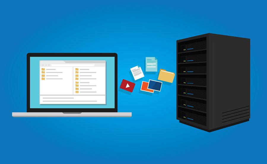 Ilustración gestion de documentos en servidor.
