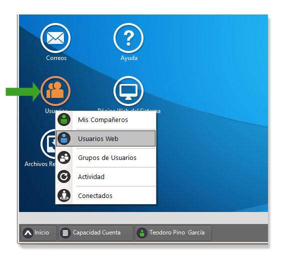 Gestión de Usuarios Web o clientes en Dataprius.