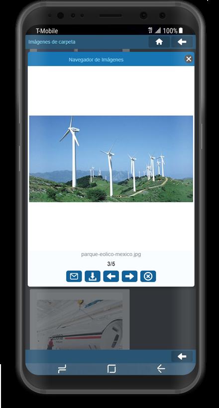 Captura aplicación Android navegador de imágenes.
