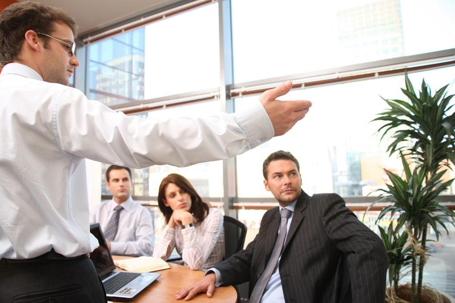 Presentación en empresa con directivos