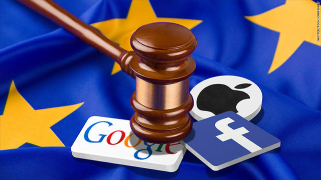 Leyes europeas contra Google,Facebook, Amazon