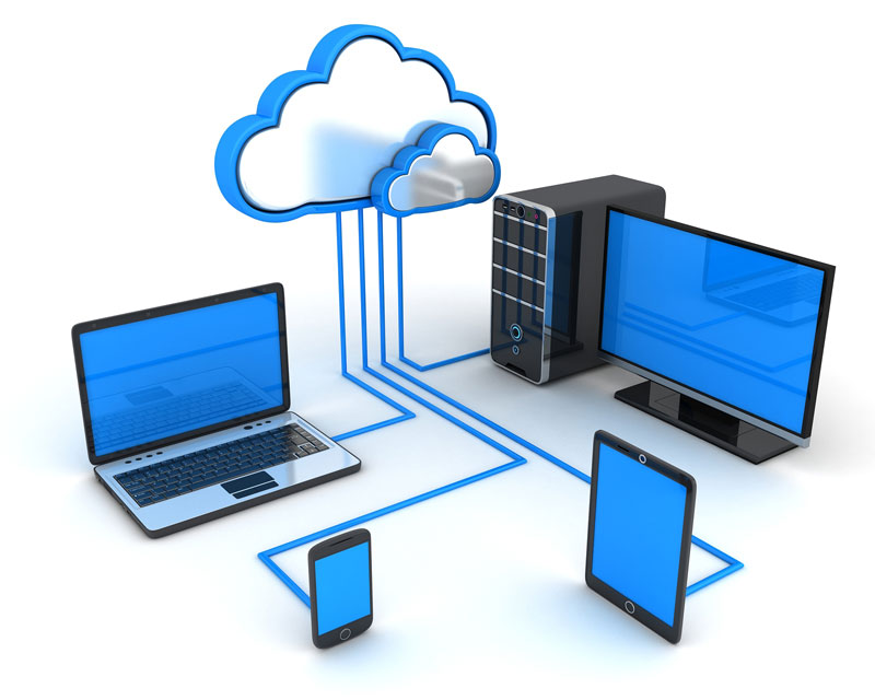 Cloud computing. Acceso desde diferentes dispositivos.
