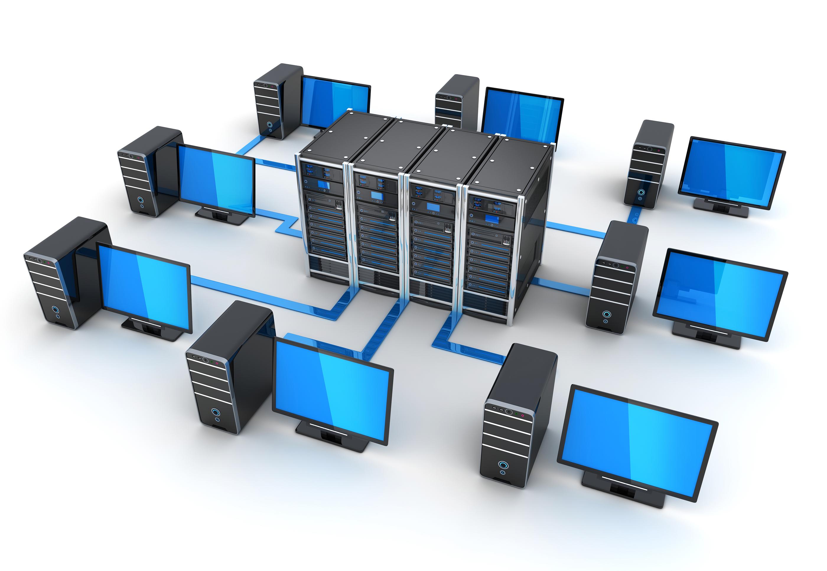 Red Intranet con equipos conectados a servidores.