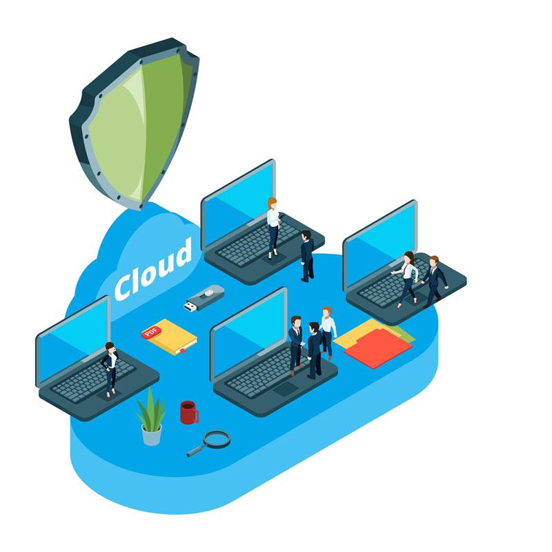Trabajo y almacenamiento en cloud