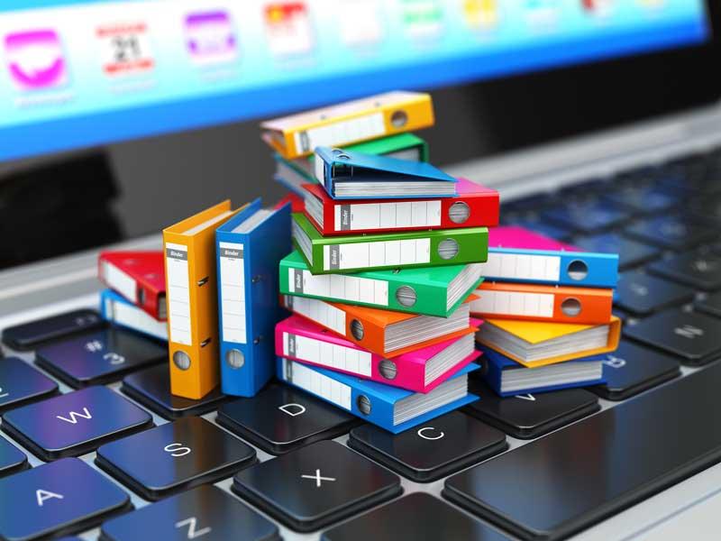 necesidad de organizar los documentos y carpetas