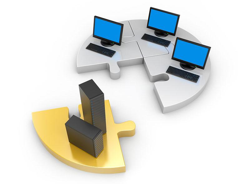 Servidor y equipos de usuario
