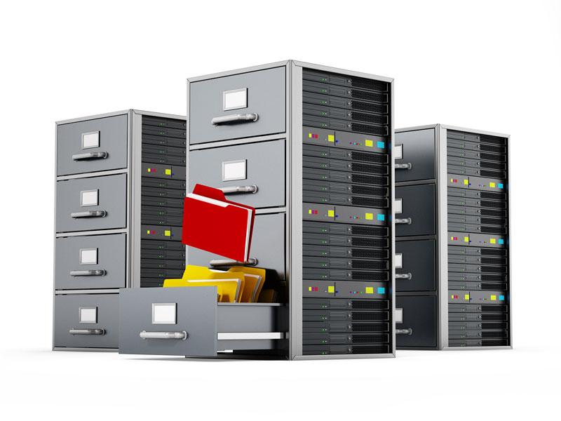 Servidores de archivos y documentos.