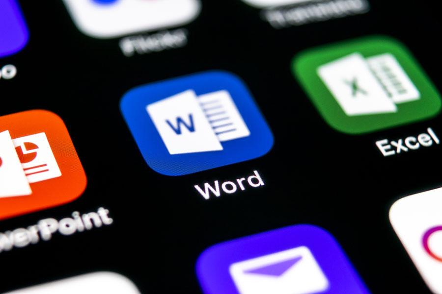 Editor de Word Online.