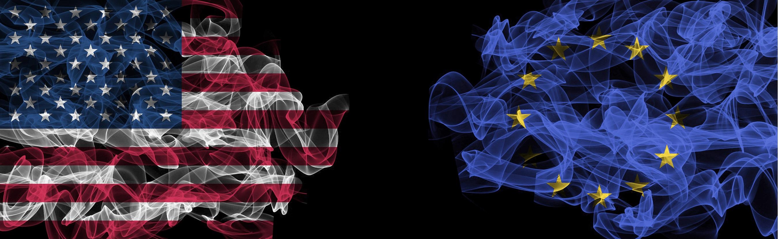 Metafórica ilustración de banderas de humo, como la protección que nos venden ambos gobiernos.