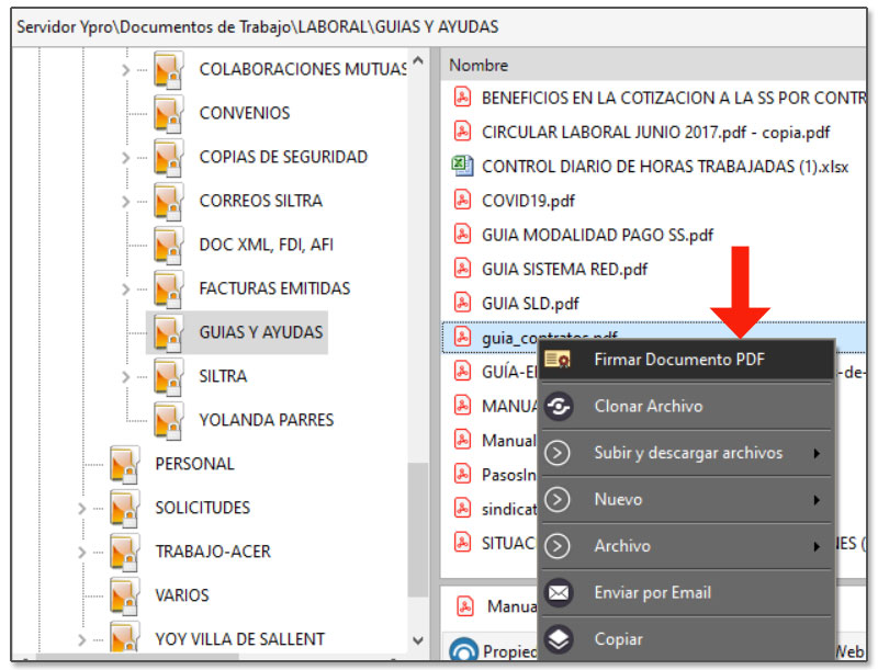 Firmar digitalmente documento en Dataprius