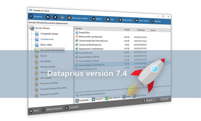 Lanzamiento Dataprius versión 7.4