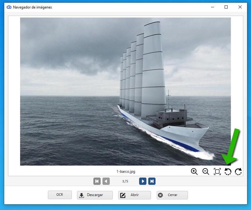 Dataprius. Navegador de imágenes con rotación.