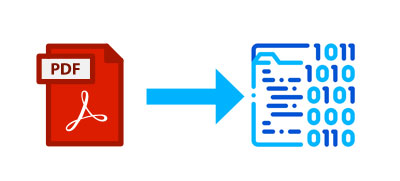 Un PDF es un bloque de ceros y unos en el disco.