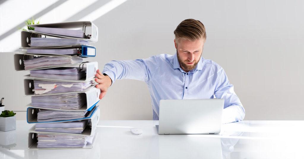 os documentos de la empresa en digital. Con software en Cloud