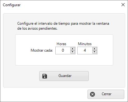 Configurar tiempo para enviar avisos a usuarios en la Carpeta vVnculada de Dataprius.