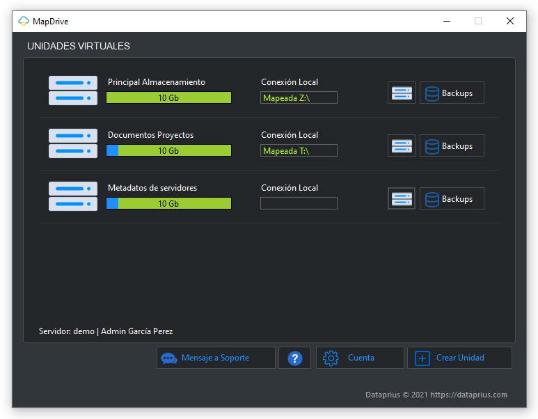 Pantalla principal del nuevo MapDrive 4.0. Más sencillo y fácil de usar.