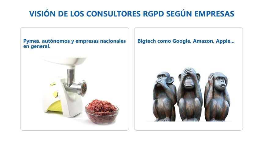 visión de los consultores RGPD según empresas.