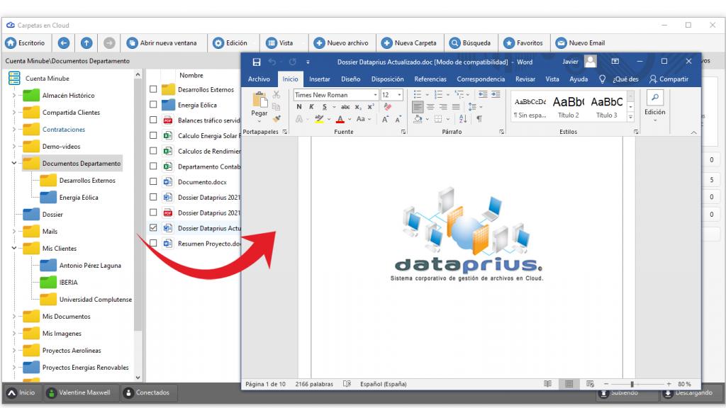 Edición directa de archivos desde el entorno