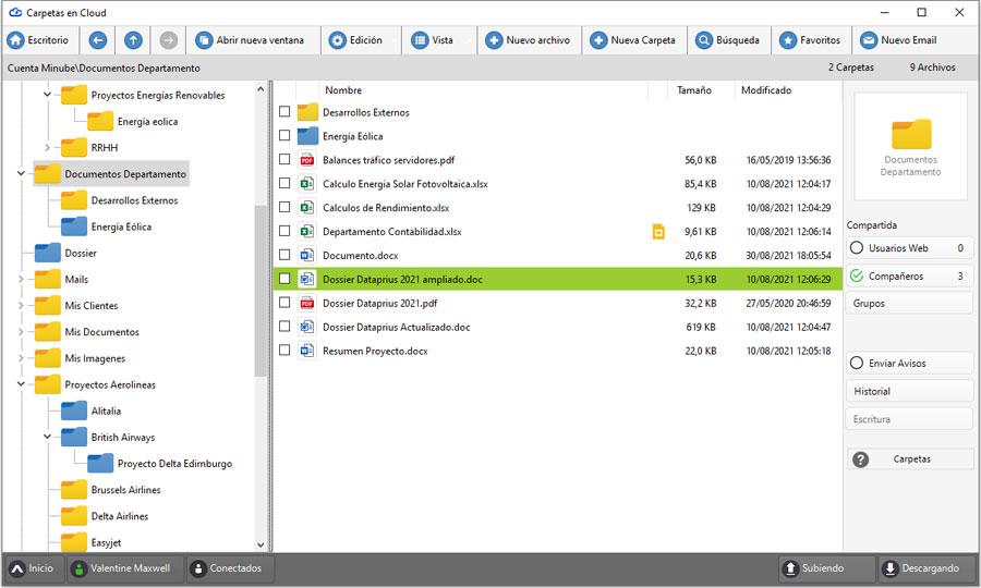 Mejorada la apertura de las carpetas para la localización de un archivo en el sistema.